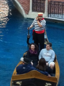 Some other couples on a gondola ride. Our gondolier had a wonderful voice.