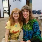 Here I am with teacher Sharon Stoick, poetry lover and school visit organizer extraordinaire!