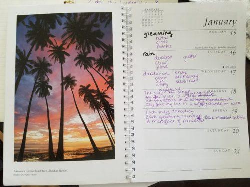 calendar poem paradise
