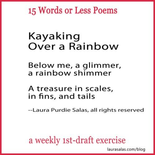kayaking over a rainbow