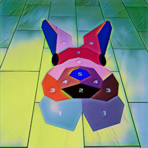 "Original art by Michael Cina ""Bunny Hopscotch Board"""