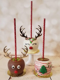 Reindeer Caramel Apples
