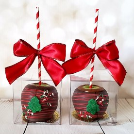 Christmas Tree Caramel Apples