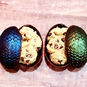 Cookie Dough filled Chocolate Dragon Eggs