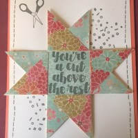 Pinwheel Star Quilt Card Tutorial