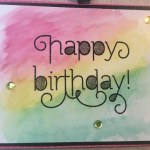 Birthday Watercolor Card