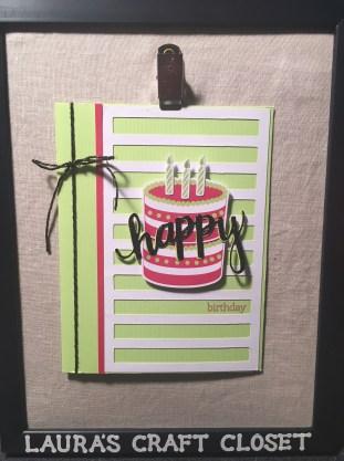 Paper Pumpkin June 2018 Broadway Star birthday card alternative using scraps