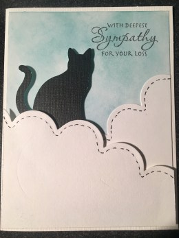 Cat sympathy card clouds