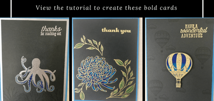 wet embossed stamped images colored with prismacolor pencils