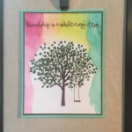 sheltering tree watercolor card