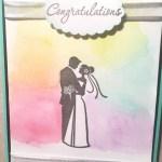 wedding congratulations watercolor card