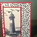 lighthouse pop up card front