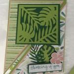Tropical Chic Fun Fold Card 2