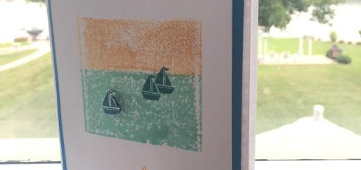 handmade Lake scene card