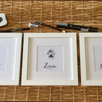 DIY Pet Paw Print Personalized Wall Art: Easy as Ink, Stamp,Write, and Frame!