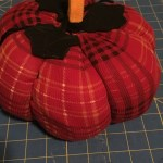 DIY plaid plush pumpkin