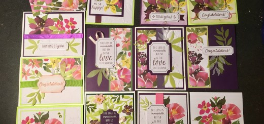 alternative cards using aug 2018 paper pumpkin blissful blooms kit