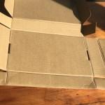 empty open paper pumpkin box