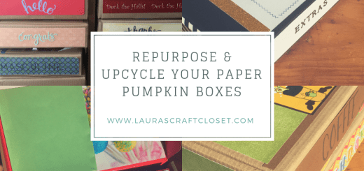 Repurpose & Upcycle your Paper Pumpkin Boxes