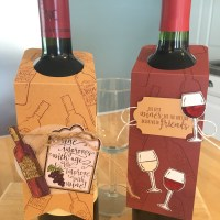 Easy Wine Bottle Tag for your next holiday party!