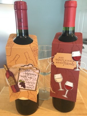 wine tags made with half full stamp set