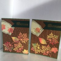 Thanksgiving and Fall Cards made using Homemade Alcohol Ink