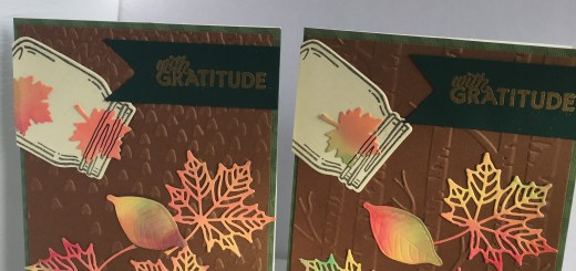 Thankful Fall Colorful Maple Leaves Cards