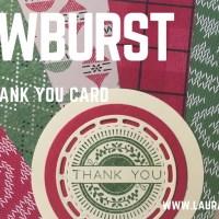 Snowburst Thank You Card