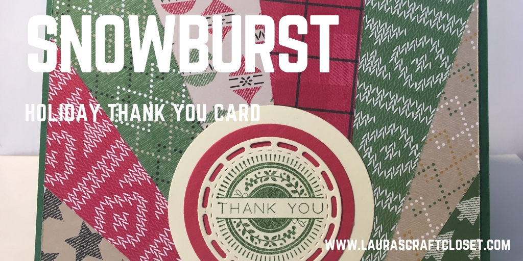 Snowburst thank you card