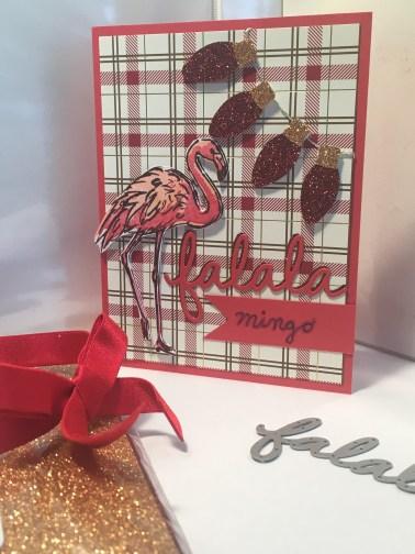 flamingo holiday card