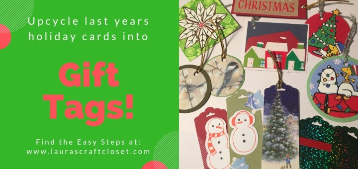 gift tags from old christmas cards