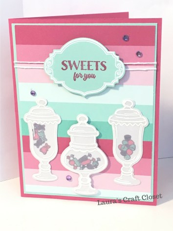 sweet candy jar valentine card
