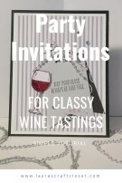 handmade invitations for wine tasting party