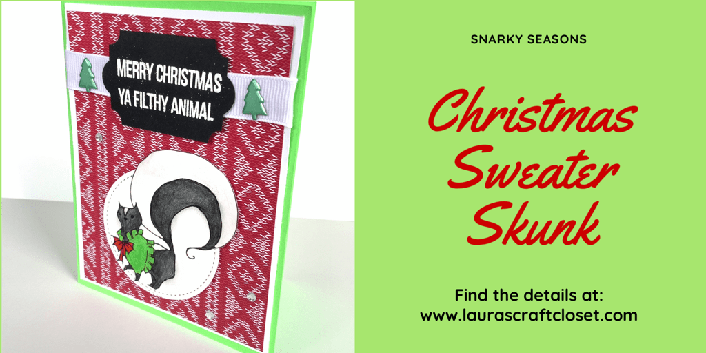 Skunk wearing a Christmas Sweater — Get ready early for the Holidays!