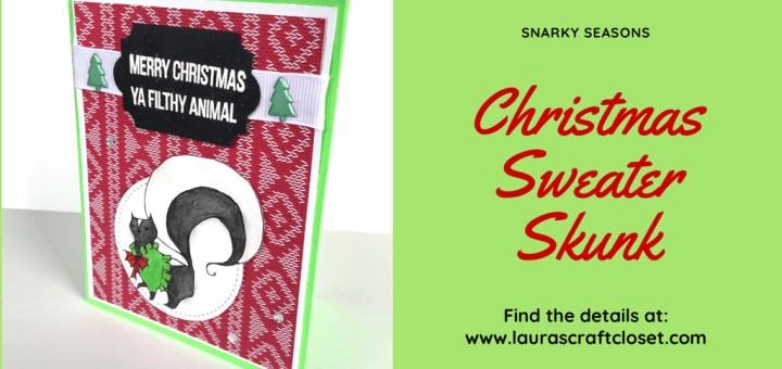 Christmas sweater skunk card twitter