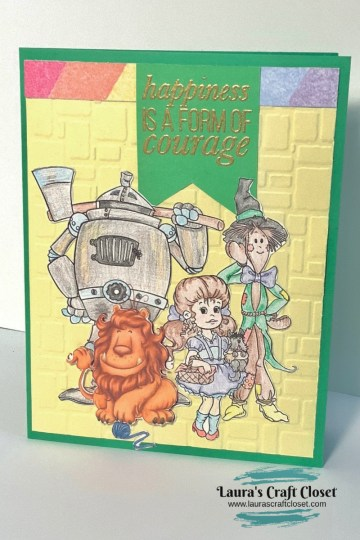 wizard of oz lion courage card