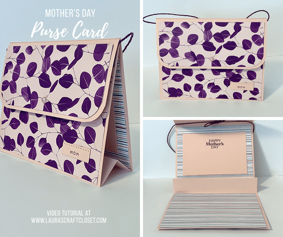 Mother's Day purse handbag card 3D