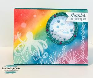 Octopus rainbow shaker card sea of textures