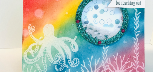 Octopus rainbow shaker card sea of textures