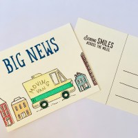 How to Make Moving Announcement Postcards