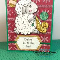 Sheep Knitter Christmas Sweater Card