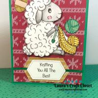 Sheep Knitter Christmas Sweater Card