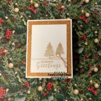 Copper Christmas CAS Card