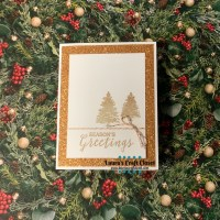 Copper Christmas CAS Card