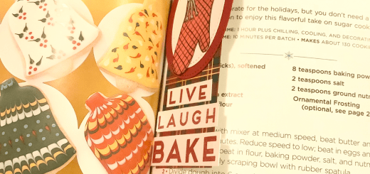 Cookie recipe bookmark open cookbook