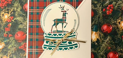 Plaid reindeer fun fold card