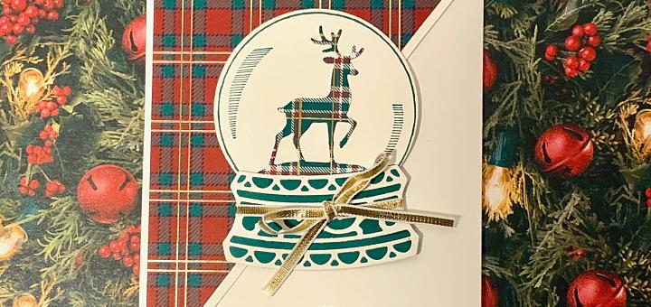 Plaid reindeer fun fold card