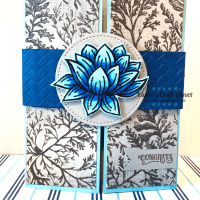 Blue Lily Gatefold Congrats Card
