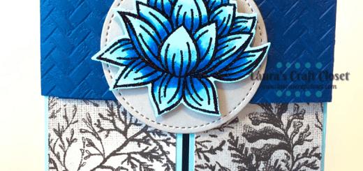 Blue Lily Gatefold Card front