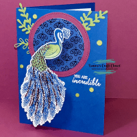 Incredible Peacock Wobble Encouragement Card